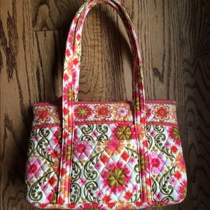 "Retired Vera Bradley Tote Bag ""Folkloric"" Pattern"