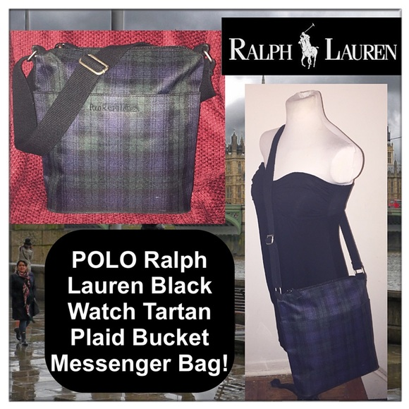 9620446a4200 VTG Polo Ralph Lauren Black Watch Plaid Bucket Bag.  M 5839e759c28456c96908a7c3. Other Bags you may like. Polo Sport Vintage ...