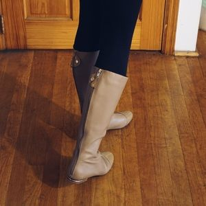 Schutz boots, size 8. Great condition. Nude