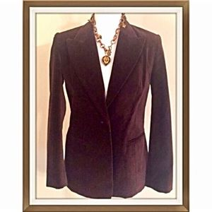 Bloomingdale's Jackets & Blazers - 🌸 Elegant chocolate brown velvet blazer