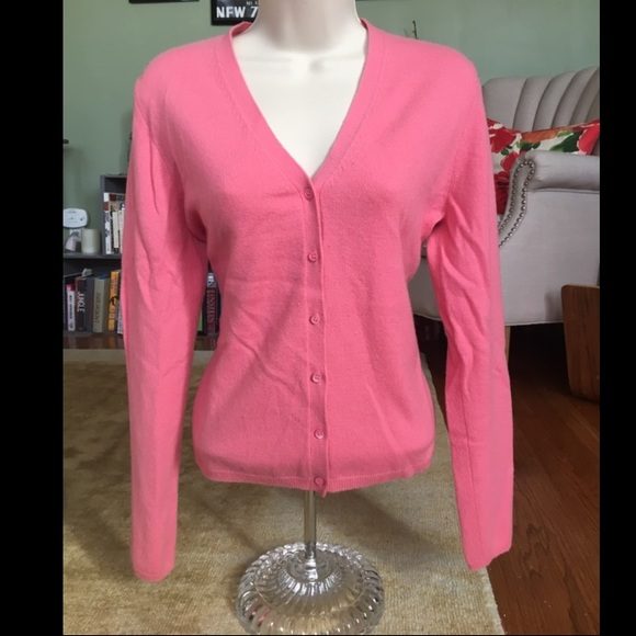 91% off TSE Sweaters - Pink Cashmere Button Down Sweater from ...