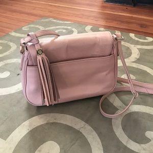 a6e79c6ee40 Tory Burch Bags - Tory Burch Thea porcelain pink leather tassel bag