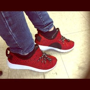 Unisex Red Black and white Sneakers