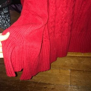Lane Bryant Sweaters - Heavy-Weight Red Cableknit Sweater