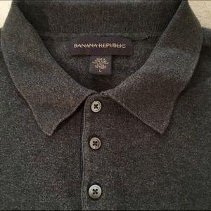 Banana Republic Gray Collared Sweater