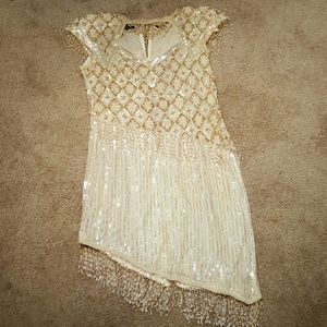 Vintage Sequin Cocktail Dress sz L
