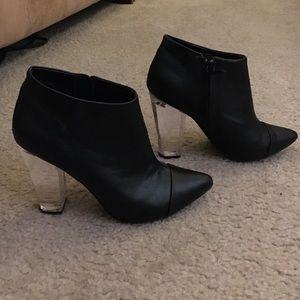 Tildon Lucite Heel Ankle Booties