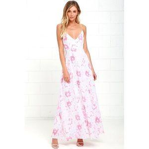 Lulus floral maxi dress low back BNWT