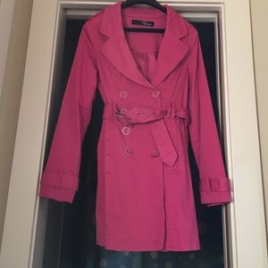Fall is here! Pink Trench Coat