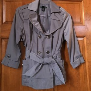 Short Grey Trench Coat
