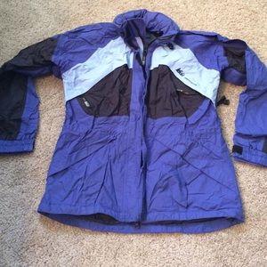 REI Ladies size small ski jacket hidden hood