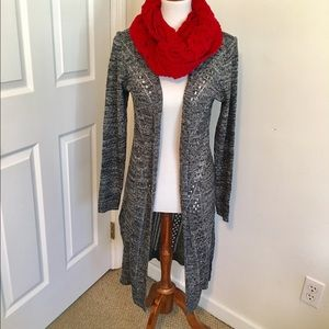 Sweaters - Open cardigan maxi sweater