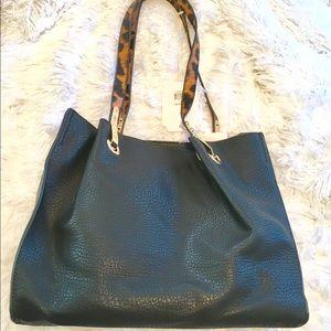 Handbags - 👜Vegan black double-strap handbag