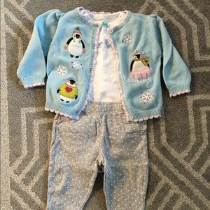 Hartstrings Other - 6-9 month penguin sweater outfit