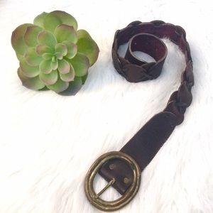 Vintage Leather Belt • 1970s Belt