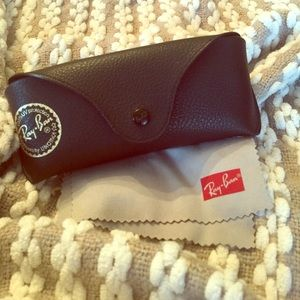 Authentic Ray Ban glasses case with cloth