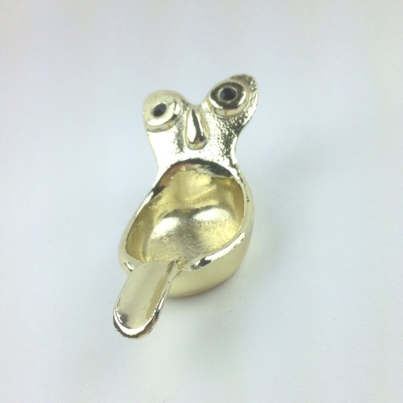 Other - Gold plated owl ring trinket holder
