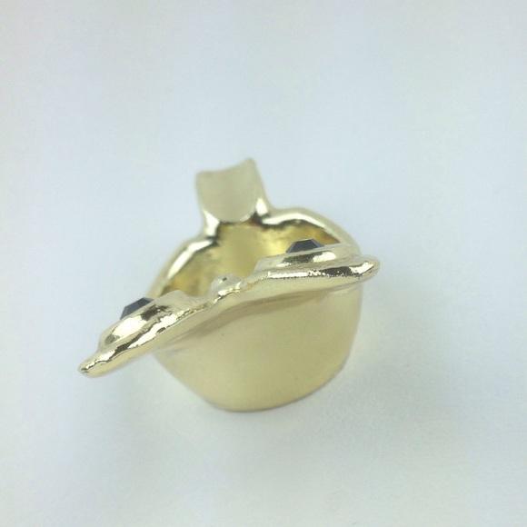 Other - Gold plated owl ring trinket holder