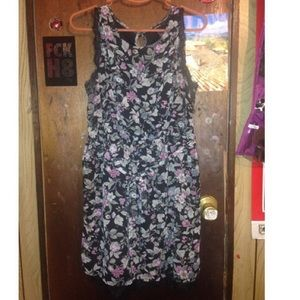 Black floral eyelash lace dress