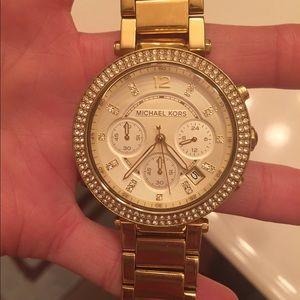 Michael Kors Accessories - Michael kors gold ladies watch