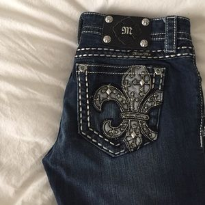 dark wash Miss Me jeans