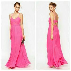 ASOS Dresses & Skirts - ASOS Pink Chiffon Cut Out Back Maxi Dress