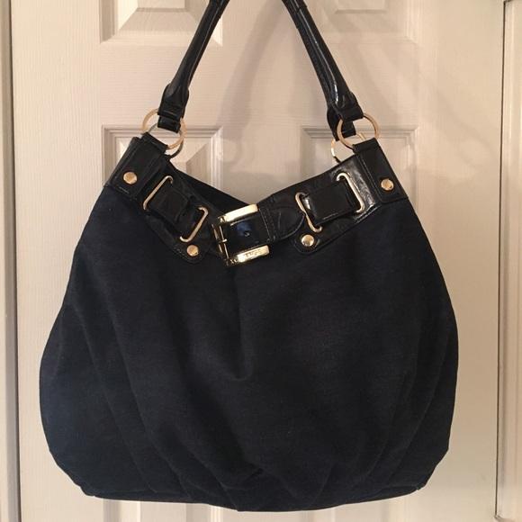 8e07da8fa988 Armani Exchange Large Black Blue Shoulder Bag