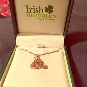 Jewelry - Rose gold Irish Celtic knot