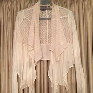 29% off Anthropologie Sweaters - Cropped off-white flowy cardigan ...