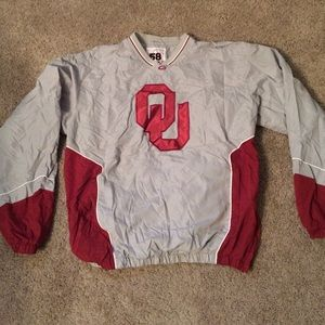 58 sports Other - OU SOONERS Size large pullover V-neck jacket