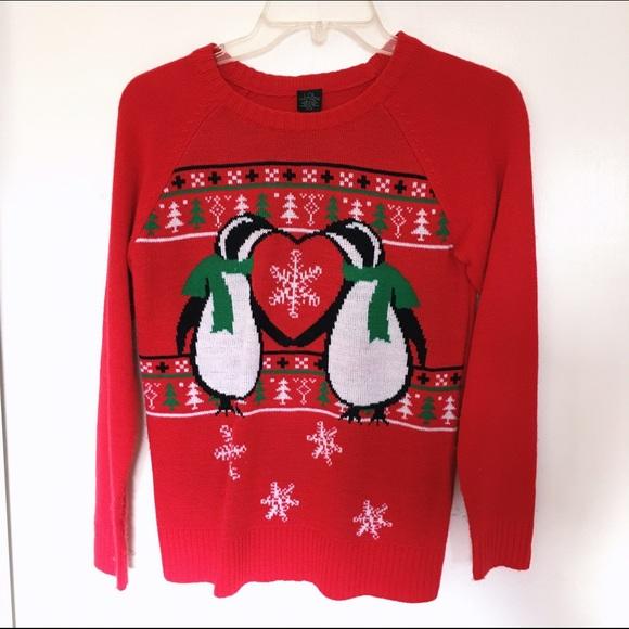 xs penguin christmas sweater