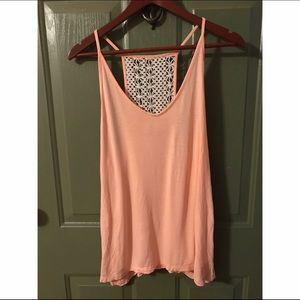 Old Navy crochet back tank