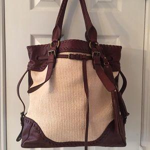 Isabella Fiore Handbags - 🛍 Isabella Fiore Large Leather Jute Shoulder Bag