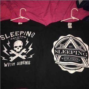 Sleeping with sirens skull crewneck