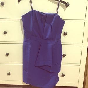 Adelyn Rae Strapless Dress with overlay