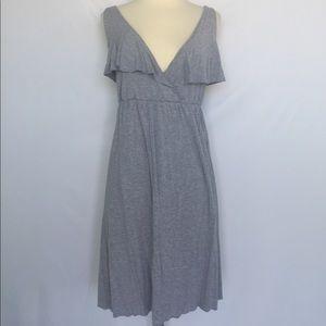 J. Crew light gray sleeveless casual dress, medium
