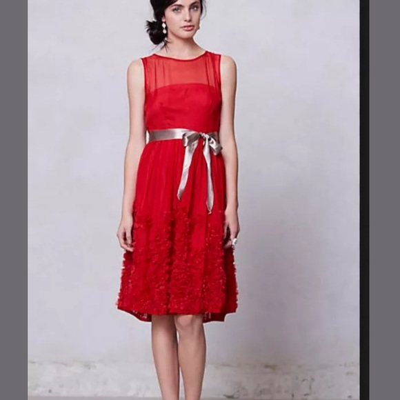 7793e033ddc Anthropologie Dresses   Skirts - Anthropologie Tiny Caridad Ruffled Holiday  Dress