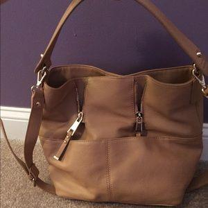 Zara Blush Bucket Shoulder Bag