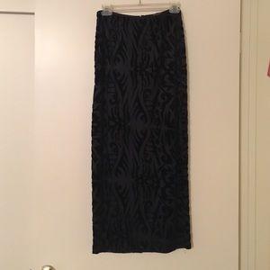 Betsey Johnson floor length velvet skirt size m