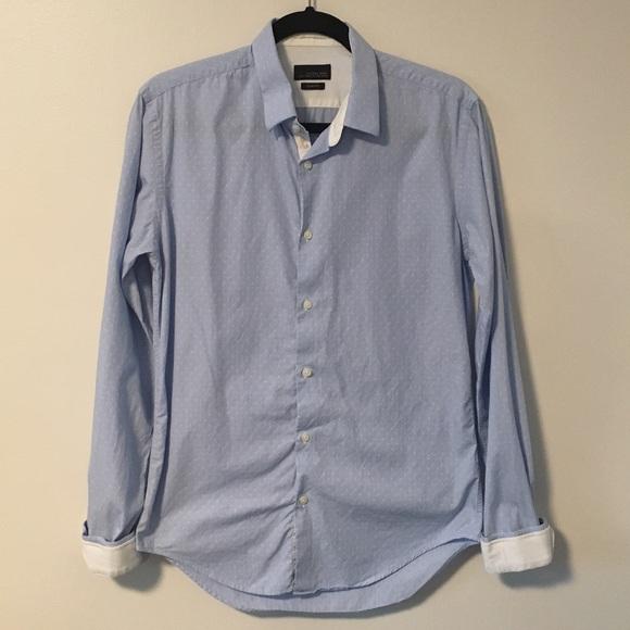 Zara Man Mens Button Down SS Shirt Black M NWT