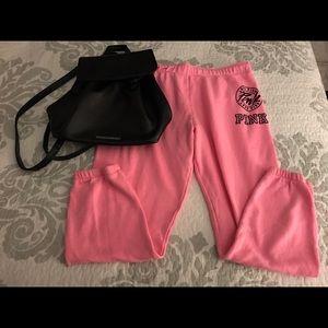 VS Pink sweatpants size-L/Backpack