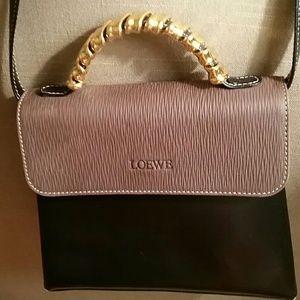 Loewe Handbags - Loewe bag, carried twice. Goldtone wrap handle.