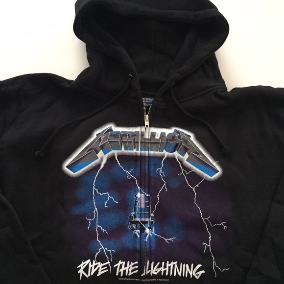 77fa850d Shirts   Sale Metallica Ride The Lightning Full Zip Hoodie   Poshmark