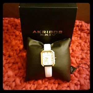 Accessories - DONATED**FINAL SALE**Akribos XXIV Leather Watch**
