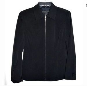 Geoffrey Beene Jackets & Blazers - Geoffrey Beene Black Fitted Zip-Up Jacket
