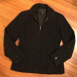 Geoffrey Beene Jackets & Blazers - Geoffrey Beene Black Fitted Zip-Up Jacket