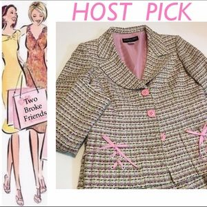 Isabel & Nina Other - Isabel & Nina, girls pink tweed suit, size 8.