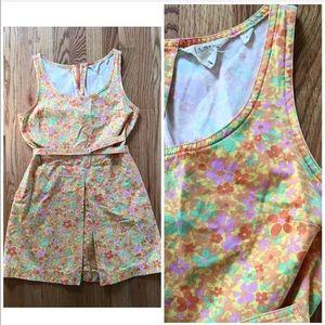 J. Crew Dress Vintage Micro Floral Sleeveless