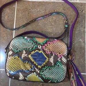 Gucci Handbags - Authentic Gucci Python multicolor disco bag