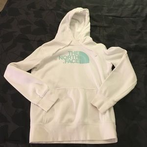 White North Face hoodie